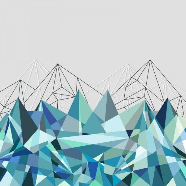 Colorflash 3 Turquoise Leinwandbild