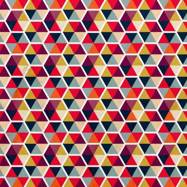 Colorful Umbrellas Geometric Pattern Leinwandbild