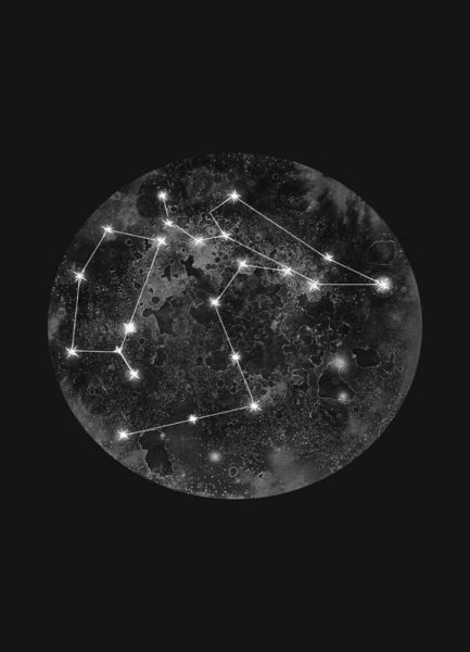 Constellation Black Leinwandbild