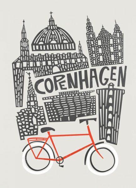Copenhagen Leinwandbild