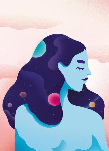 Cosmic Girl Leinwandbild