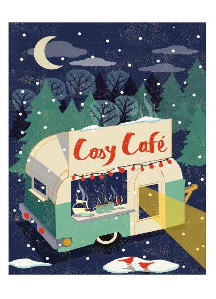 Cosy Cafe 2 Leinwandbild