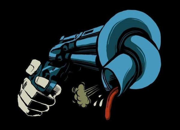 Crooked Gun Leinwandbild