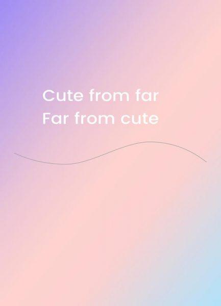Cute From Far Leinwandbild