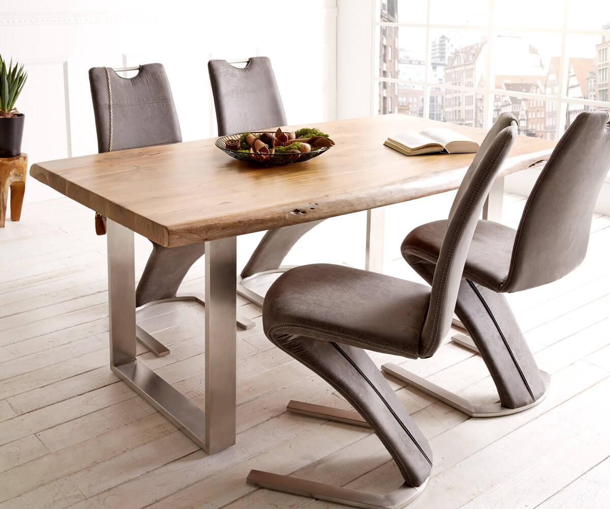 delife baumtisch live edge 180x90 akazie natur platte 5 5. Black Bedroom Furniture Sets. Home Design Ideas