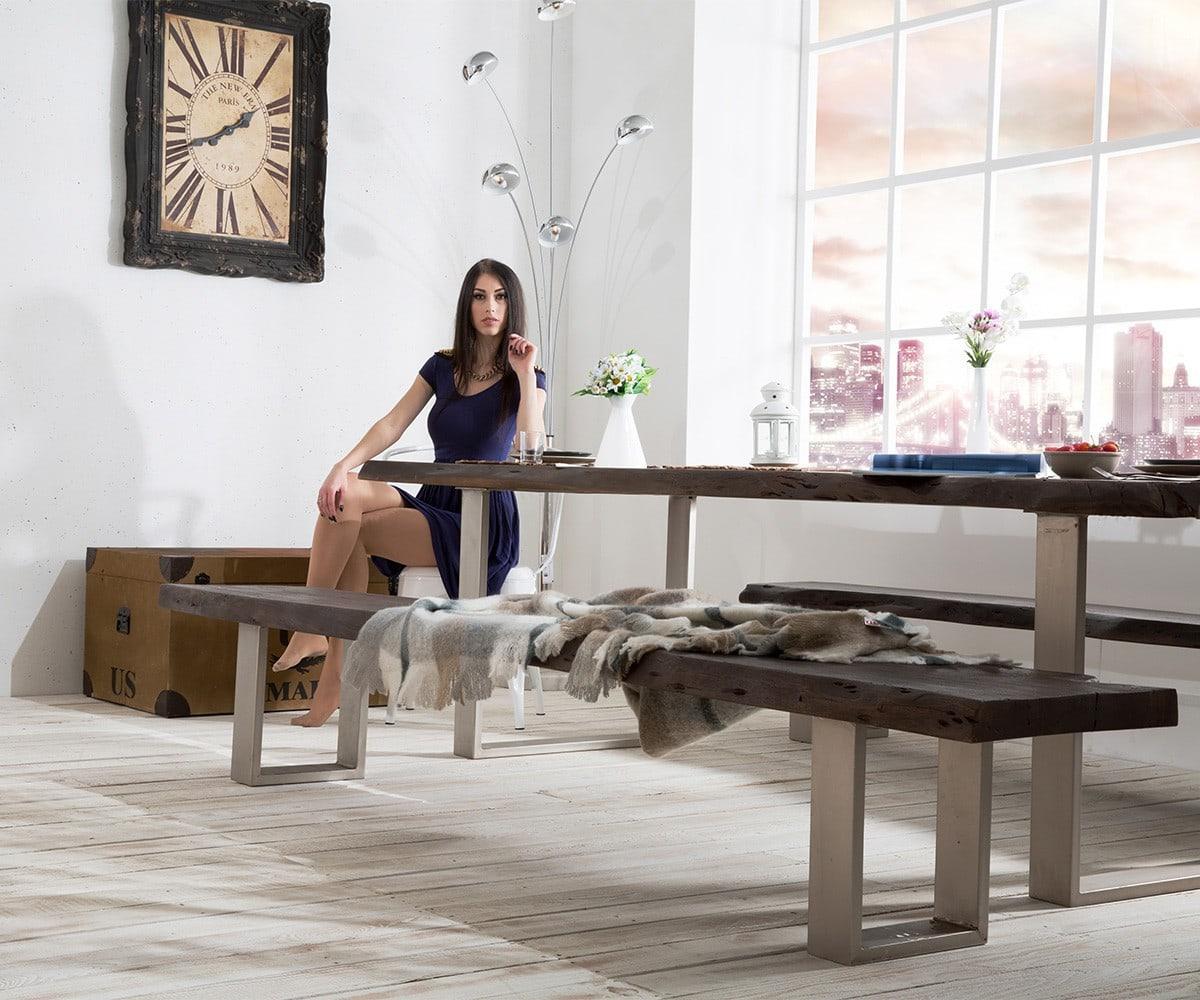 delife baumtisch live edge 260x100 akazie tabak platte 5. Black Bedroom Furniture Sets. Home Design Ideas