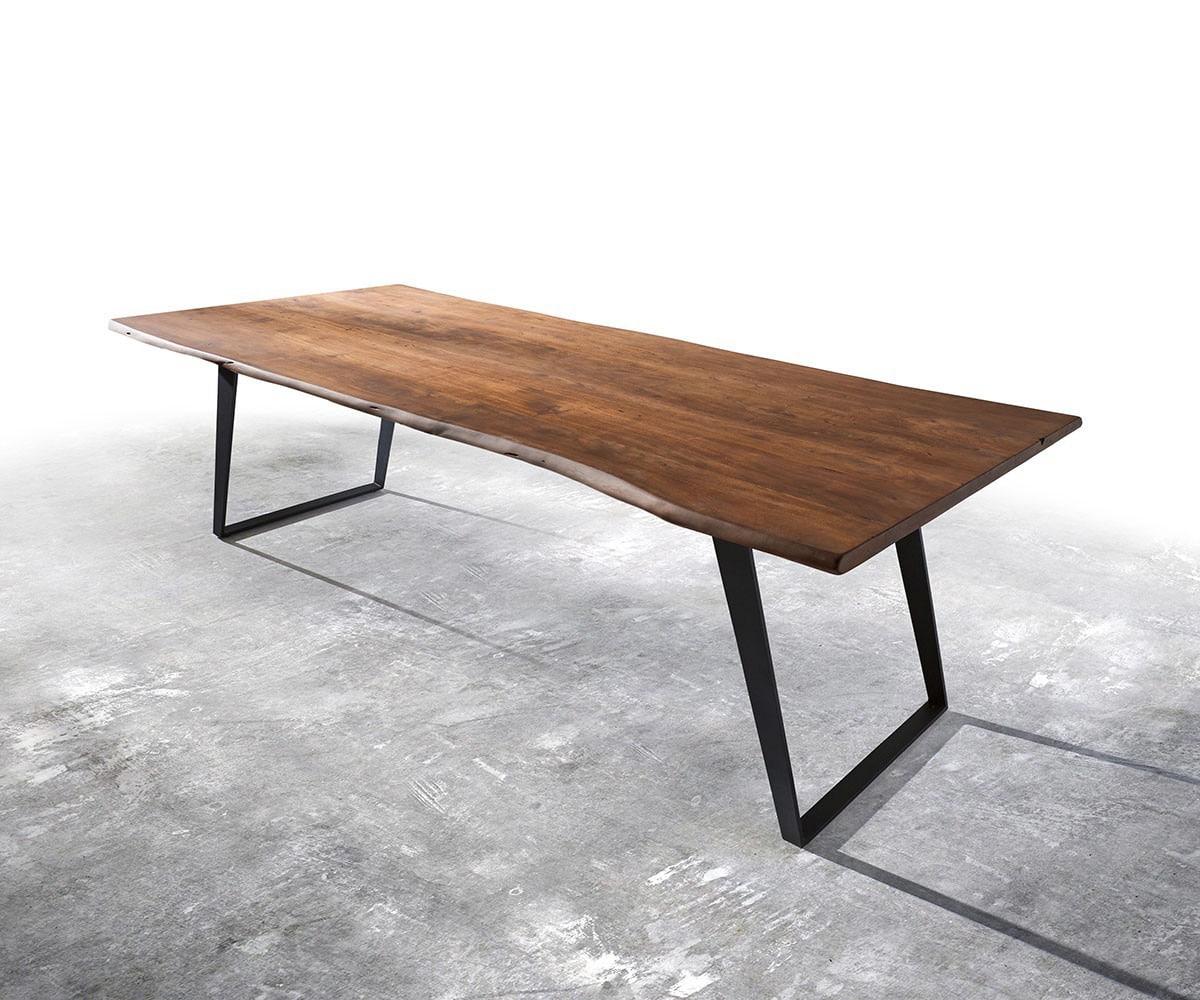 delife baumtisch live edge 300x100 akazie braun platte 3 5. Black Bedroom Furniture Sets. Home Design Ideas