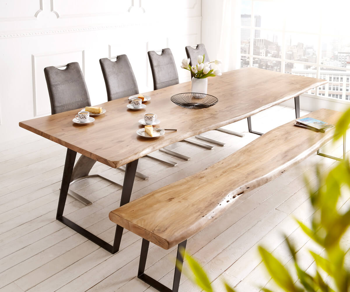 delife baumtisch live edge 300x100 akazie natur platte 3 5. Black Bedroom Furniture Sets. Home Design Ideas
