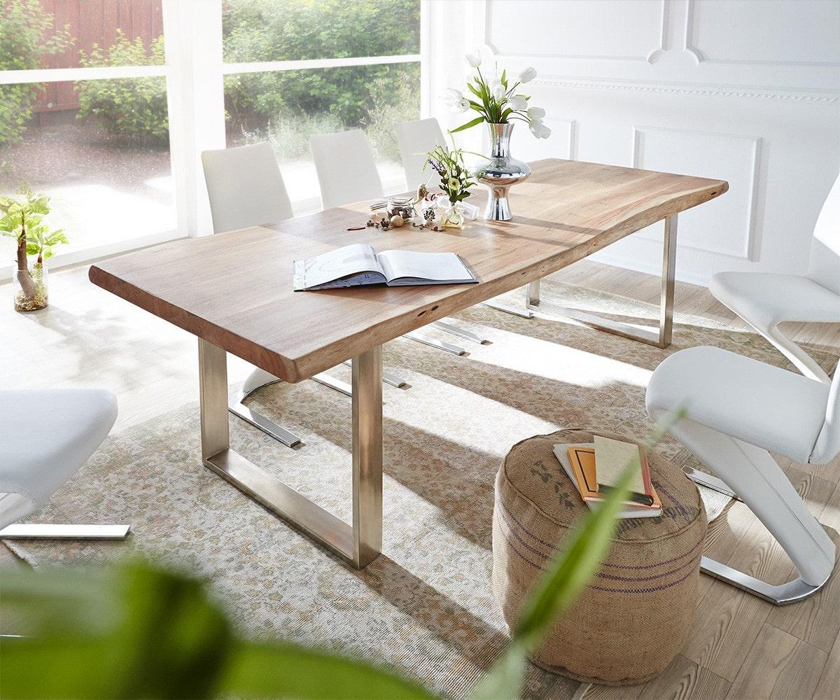 delife baumtisch live edge 300x100 akazie natur platte 5. Black Bedroom Furniture Sets. Home Design Ideas
