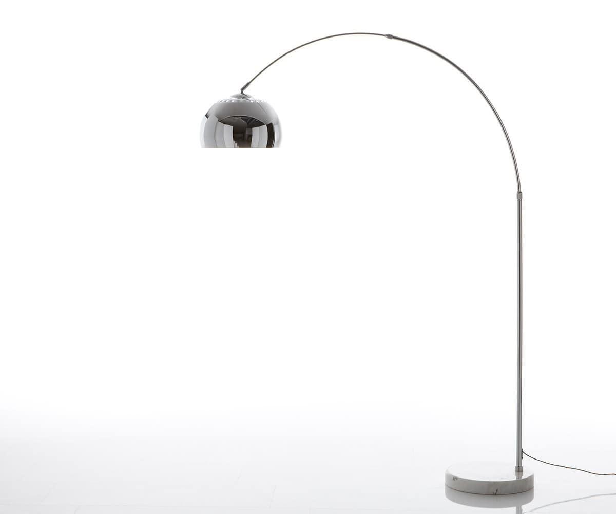 delife bogenleuchte big deal eco silber marmor h henverstellbar stehleuchten 5708 online kaufen. Black Bedroom Furniture Sets. Home Design Ideas