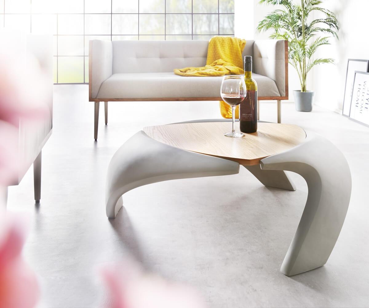 delife couchtisch rock 90x90 cm grau beton optik holz ablage couchtische 11572 online kaufen. Black Bedroom Furniture Sets. Home Design Ideas
