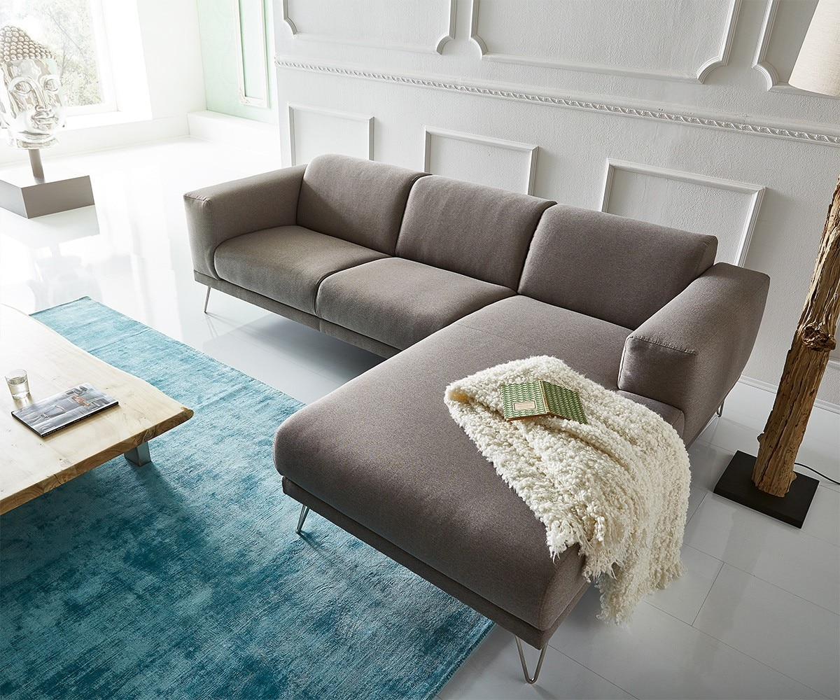 delife ecksofa lordina 260x185 grau ottomane rechts premium ecksofas 10957 online kaufen bei woonio. Black Bedroom Furniture Sets. Home Design Ideas
