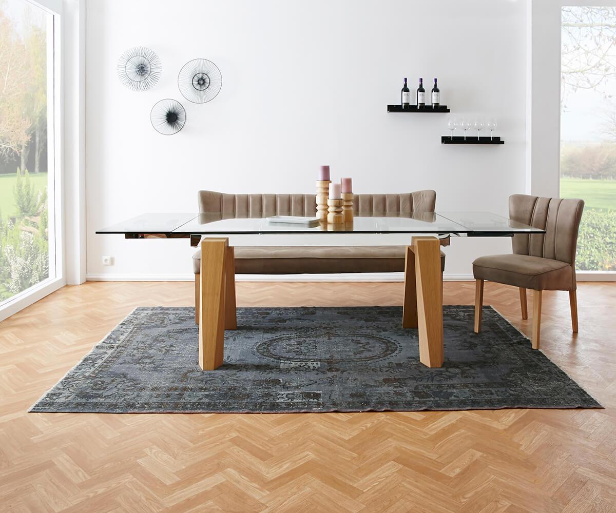 delife esstisch solideon 160 240x100 glas edelstahl. Black Bedroom Furniture Sets. Home Design Ideas