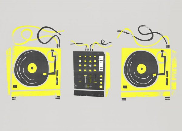 DJ Decks Leinwandbild