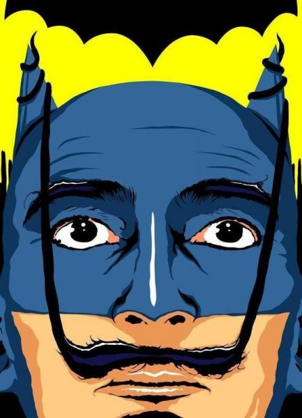 Dali Batman Leinwandbild