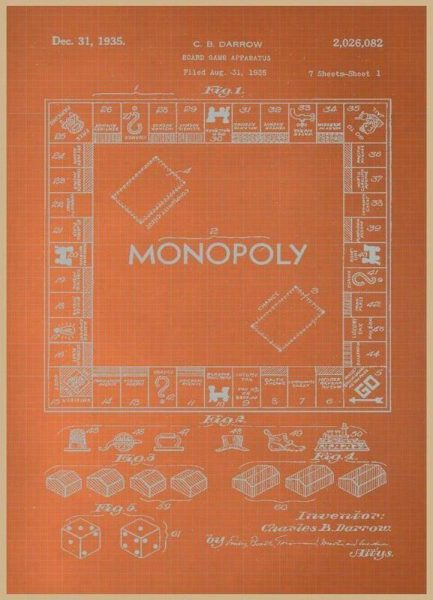 Darrow Monopoly Leinwandbild