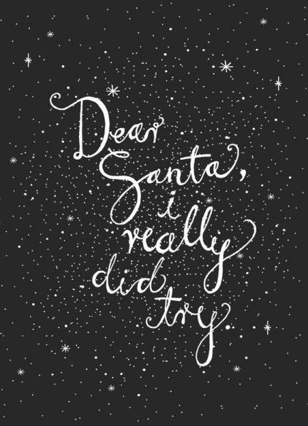 Dear Santa No. 2 Leinwandbild