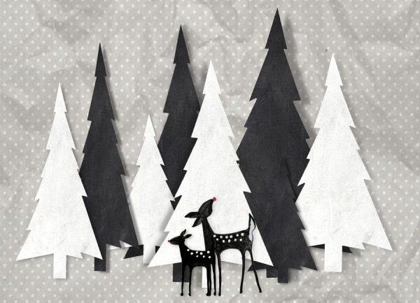 Deer and Forest Leinwandbild