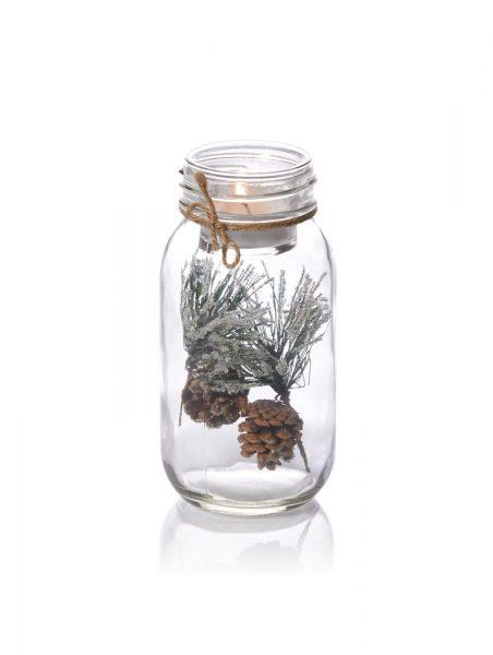 Deko-Teelichtglas Zapfen