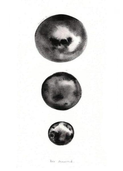 Der Mond Leinwandbild