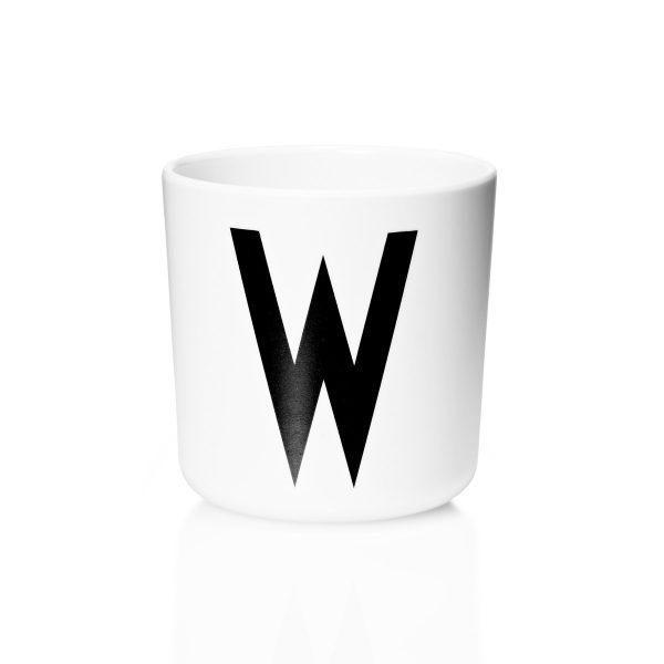 Design Letters - AJ Melamin Becher WSchwarz/WeißT:7 H:7 B:7