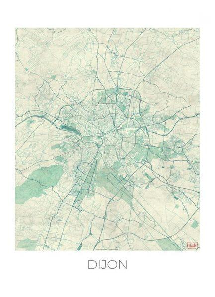 Dijon Vintage Leinwandbild