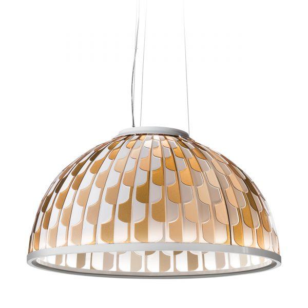 Dome LED Pendelleuchte 75 weiss-orange