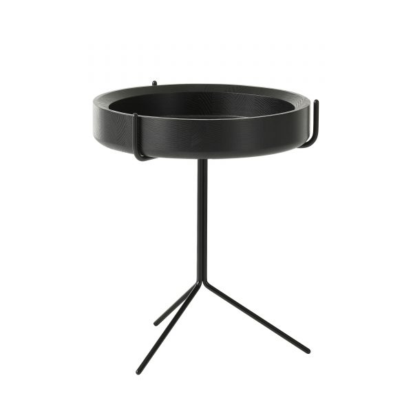 Drum Beistelltisch schwarz 36
