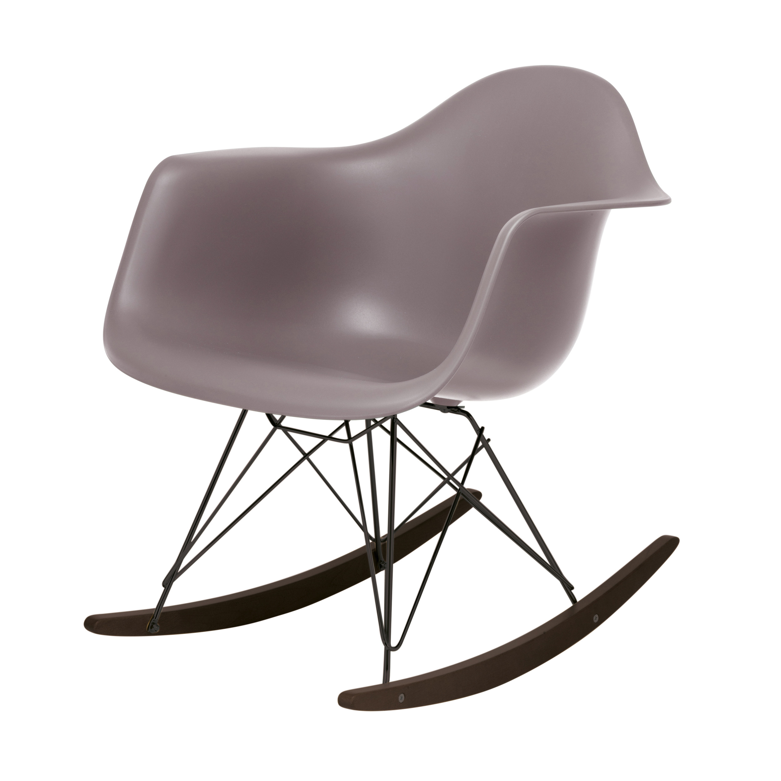 eames plastic armchair rar schaukelstuhl mauve grau schwarz online kaufen bei woonio. Black Bedroom Furniture Sets. Home Design Ideas