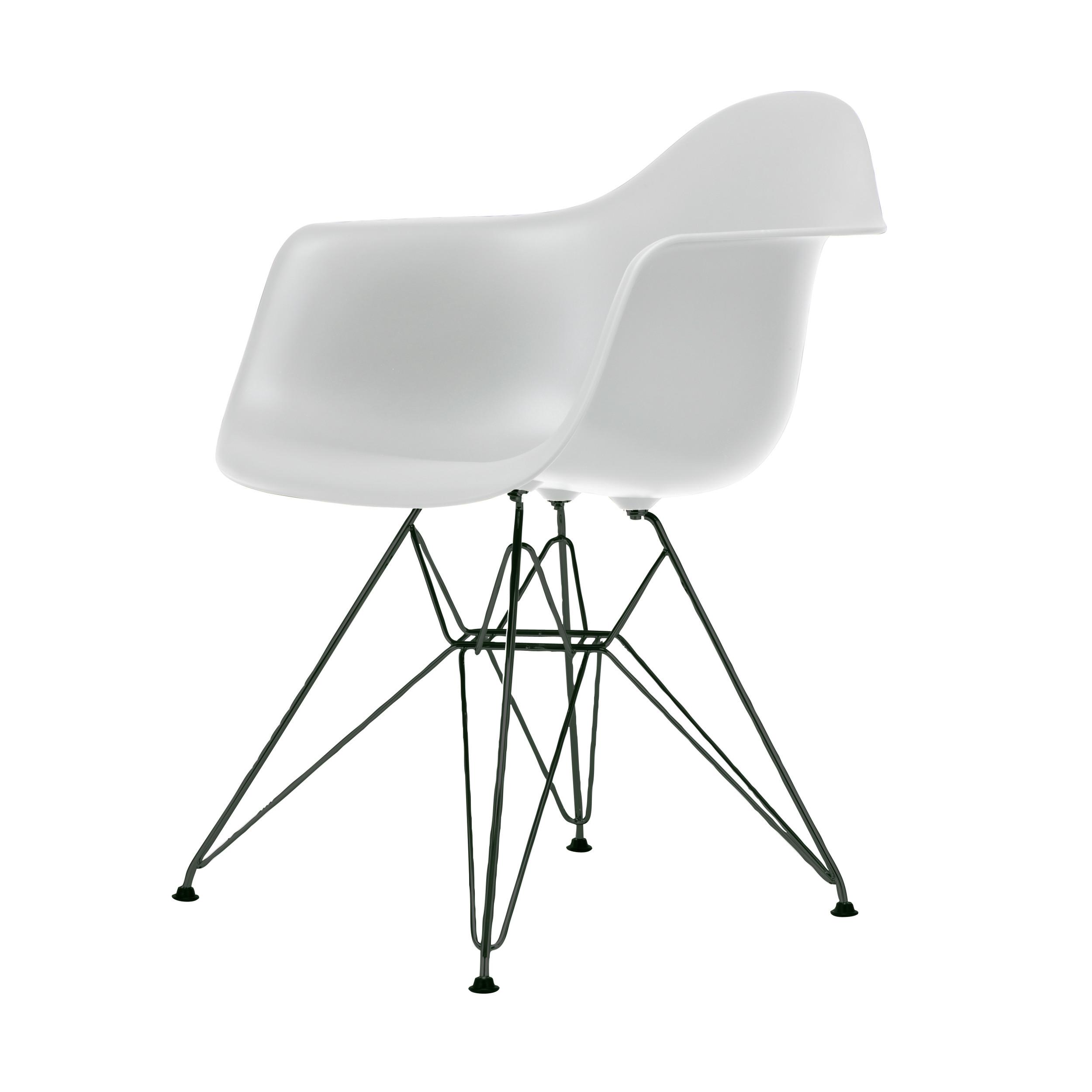Eames Plastic Armchair Stuhl DAR Mit Filzgleitern Weiss