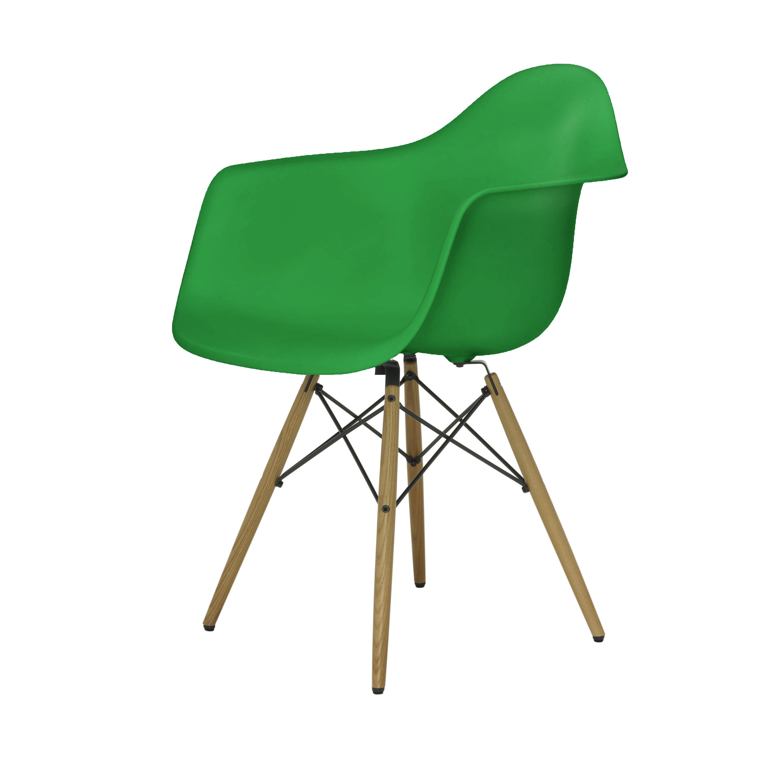 eames plastic armchair stuhl daw mit kunststoffgleitern classic green esche. Black Bedroom Furniture Sets. Home Design Ideas