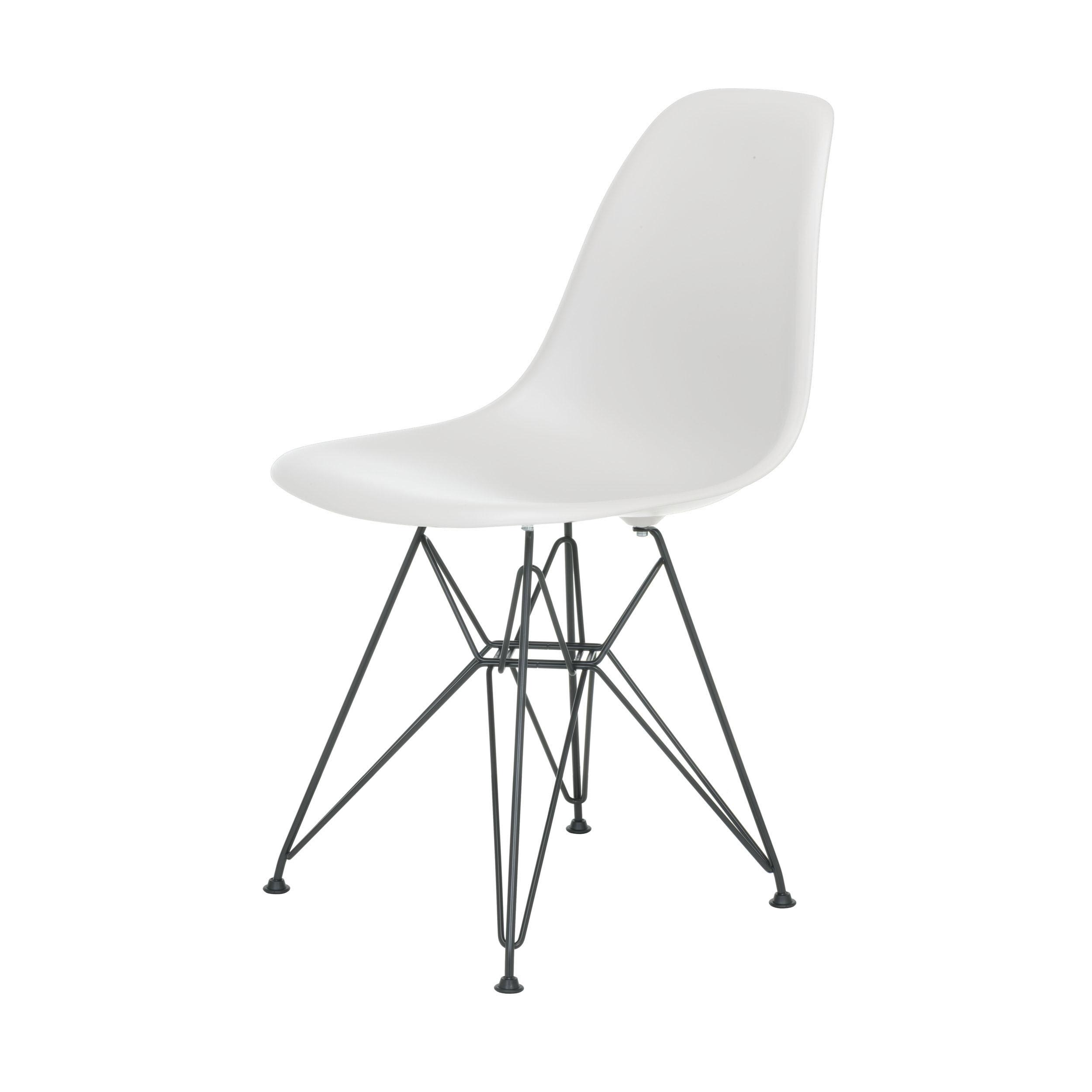 eames plastic side chair stuhl dsr mit filzgleitern weiss schwarz online kaufen. Black Bedroom Furniture Sets. Home Design Ideas