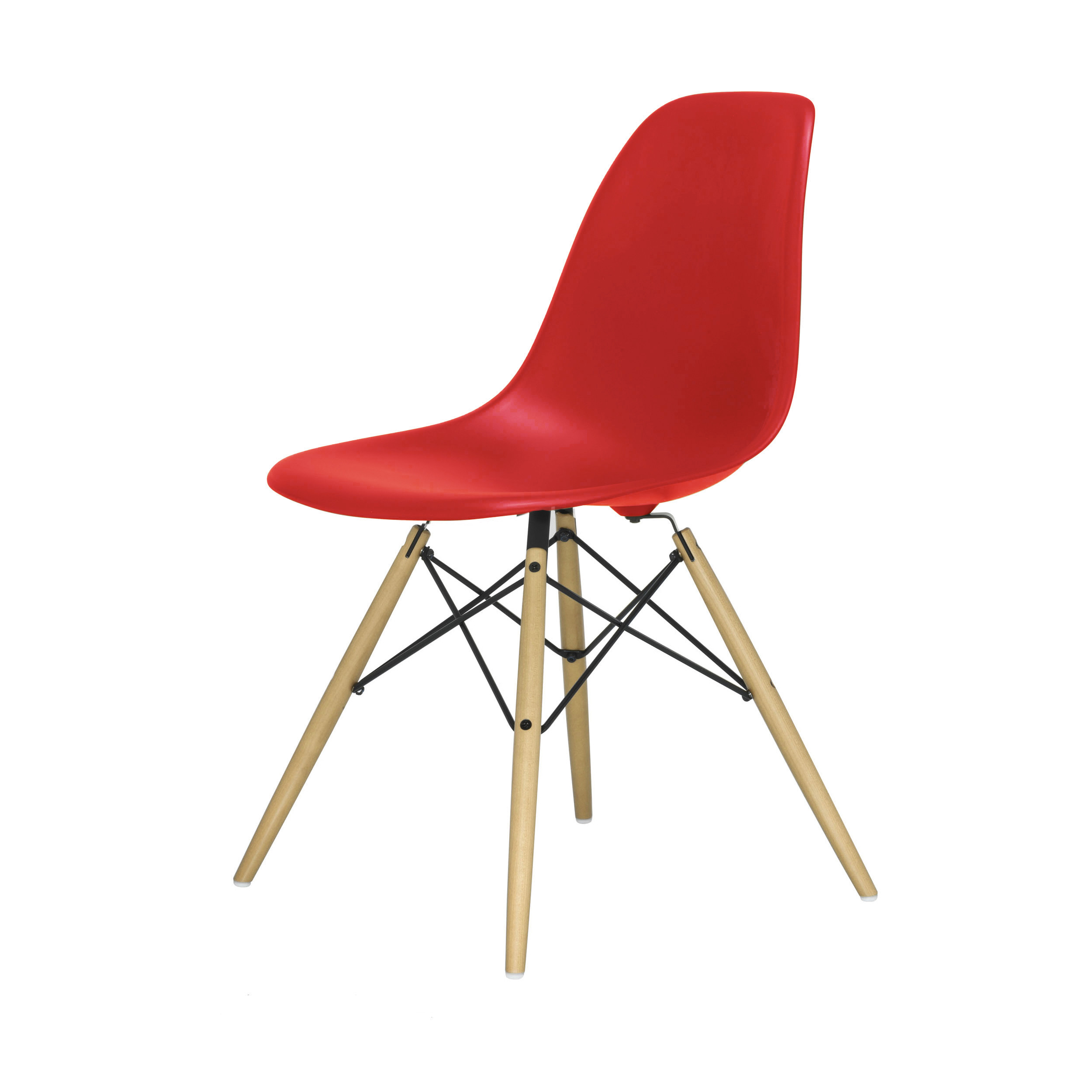 eames plastic side chair stuhl dsw mit kunststoffgleitern classic red ahorn. Black Bedroom Furniture Sets. Home Design Ideas