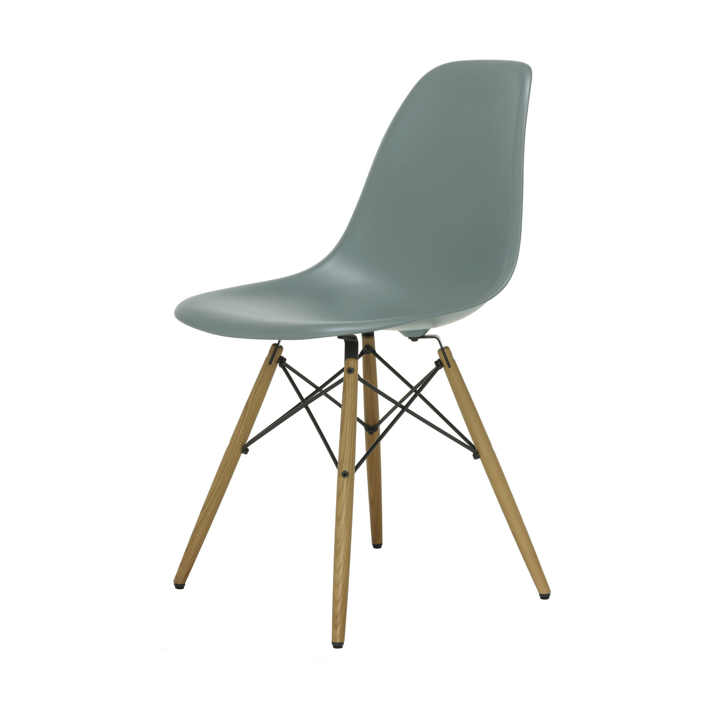 eames plastic side chair stuhl dsw mit kunststoffgleitern moosgrau esche online. Black Bedroom Furniture Sets. Home Design Ideas