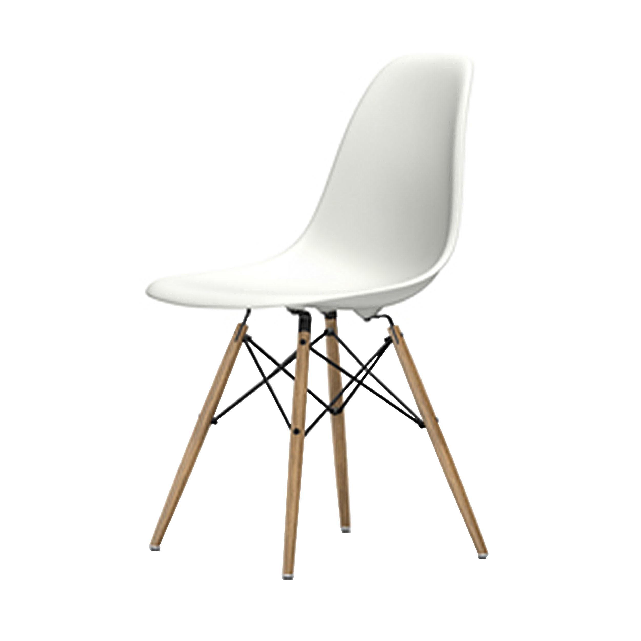 eames plastic side chair stuhl dsw mit kunststoffgleitern weiss esche neue ma e. Black Bedroom Furniture Sets. Home Design Ideas