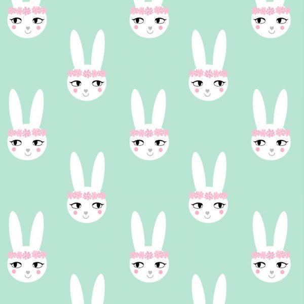 Easter Bunny Mint Leinwandbild