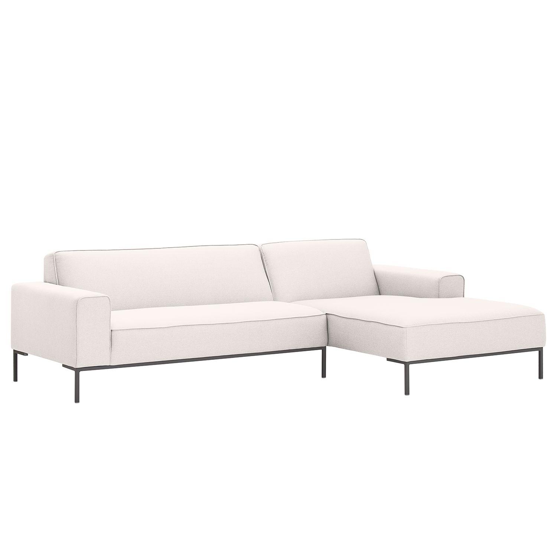 ecksofa ampio i webstoff longchair ottomane davorstehend rechts grau stoff floreana beige. Black Bedroom Furniture Sets. Home Design Ideas