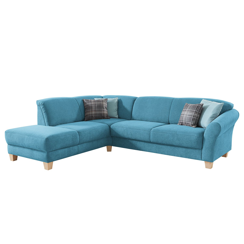 ecksofa cebu webstoff ottomane davorstehend links keine funktion hellblau maison belfort. Black Bedroom Furniture Sets. Home Design Ideas
