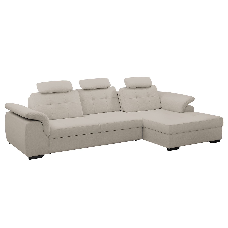 ecksofa halsey mit schlaffunktion strukturstoff longchair davorstehend rechts schwedisch. Black Bedroom Furniture Sets. Home Design Ideas