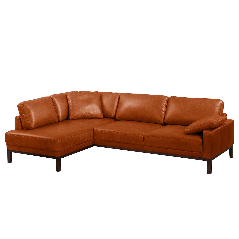 ecksofa horley echtleder ottomane davorstehend links. Black Bedroom Furniture Sets. Home Design Ideas