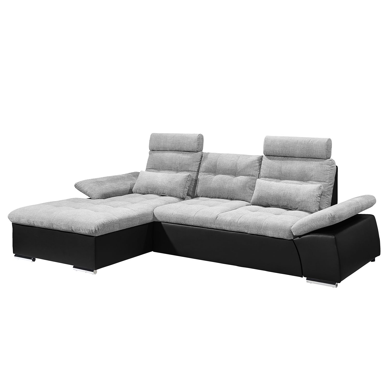 ecksofa puntiro mit schlaffunktion kunstleder webstoff. Black Bedroom Furniture Sets. Home Design Ideas