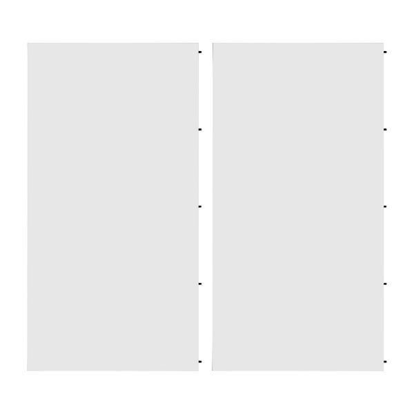 Einlegeplatte Nysted (2er-Set) - Weiß / Eiche Schwarz