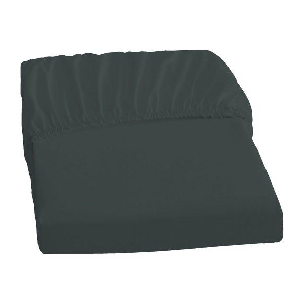 Elastic-Jersey-Spannbetttuch - Titanium - 180-200/200-220 cm