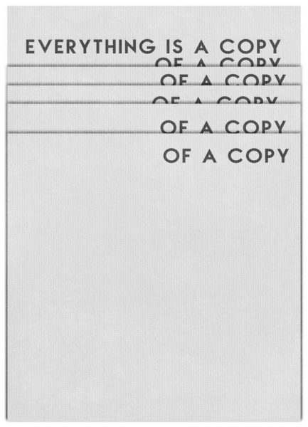 Everything Is a Copy Leinwandbild