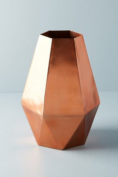 Facettierte Metallvase - Copper44266476EU