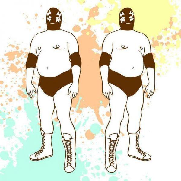 Fat lucha Leinwandbild