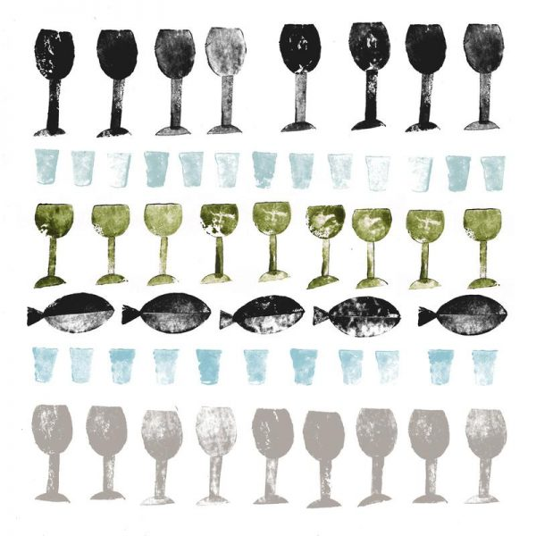 Fish and Wine 2 Leinwandbild