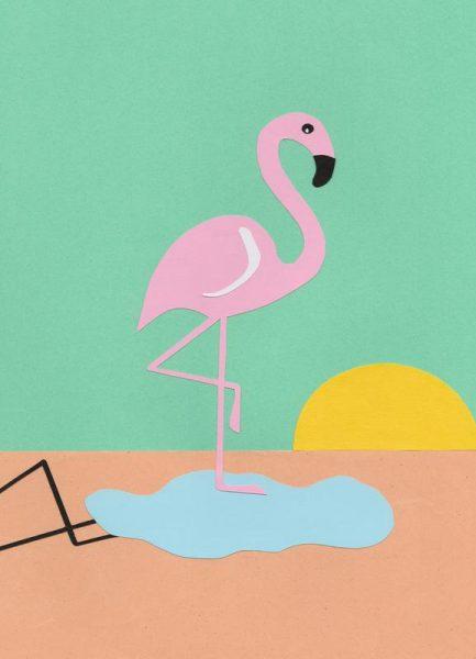 Flamingo Herbert Leinwandbild