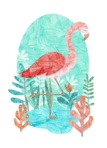 Flamingo Leinwandbild