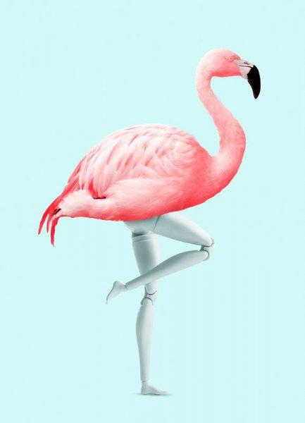 Flamingo Mannequin Leinwandbild